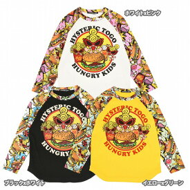 Hystericmini ヒステリックミニ HYSTERIC TO GO HUNGRY KIDS ラグラン長袖Tシャツ
