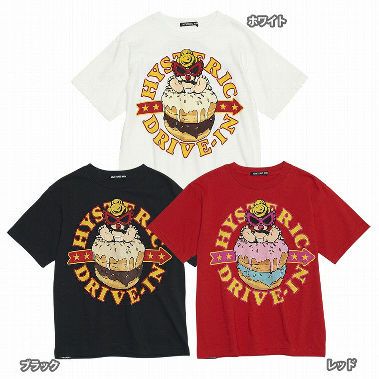 Hystericmini ヒステリックミニ HYSTERIC DRIVE-IN コーマ天竺半袖Tシャツ