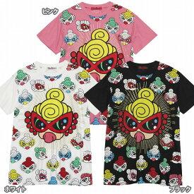 Hystericmini ヒステリックミニ SUPER POP MINI パネル総柄 コーマ天竺BIG半袖Tシャツ