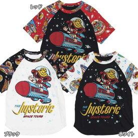Hystericmini ヒステリックミニ SPACE TOUR総柄 コーマ天竺ラグラン半袖Tシャツ