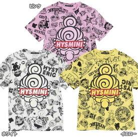 Hystericmini ヒステリックミニ HYSTERIC MINI GENERATIONS総柄コーマ天竺半袖Tシャツ