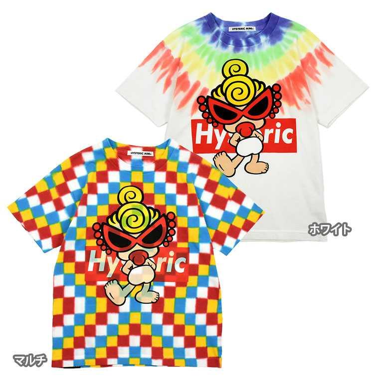 Hystericmini ヒステリックミニ GALLERYLAムラ染めコーマ度詰天竺Tシャツ