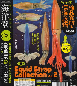 [Gacha Gacha Complete set] Capsule Q Museum Ikacolle!2 Squid Strap Collection vol.2 set of 5