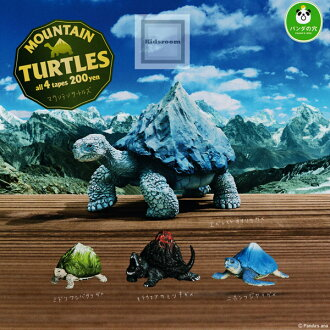 [Gacha gacha complete set] Panda no Ana Mountain Turtles set of 4