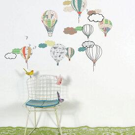 ウォールステッカー MIMI'lou【Hot air balloons ホットエアバルーンズ】子供部屋 こども ウォールステッカー 壁シール こども部屋 キッズ