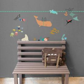 ウォールステッカー MIMI'lou【La mer/The Sea ザシー】子供部屋 こども ウォールステッカー 壁シール こども部屋 キッズ