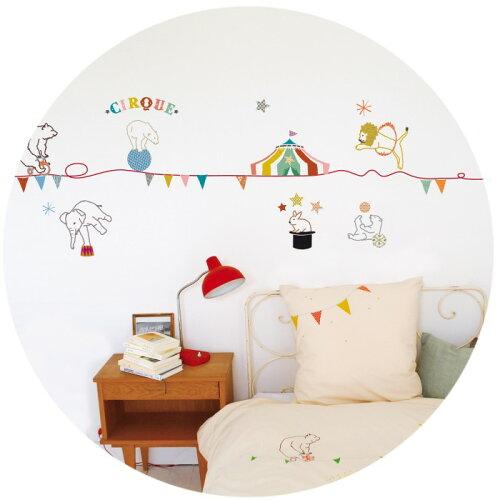 ウォールステッカーMIMI'lou【Circusサーカス】子供部屋こどもウォールステッカー壁シールこども部屋キッズ
