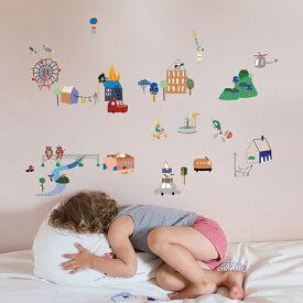ウォールステッカー MIMI'lou【シティ】子供部屋 こども ウォールステッカー 壁シール こども部屋 キッズ