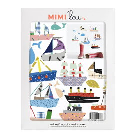 ウォールステッカー MIMI'lou【ボート:ミニステッカー】子供部屋 こども ウォールステッカー 壁シール こども部屋 キッズ