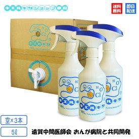 【レビューで次回500円クーポン】 キエルキン バックインボックス 5L 【空】スプレーボトル 3本セット 次亜塩素酸水 溶液
