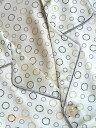 19匁最高シルク100%パジャマ【丸ドット柄】長袖 アイボリー 19匁絹100% メンズ/紳士 ルームウェアーll【送料無料】…
