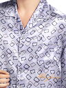 シルク100%パジャマ メンズ 長袖 パープル 紫色【スクエアー柄】【送料無料】【smtb-KD】【楽ギフ_包装選択】あす楽対応【RCP】