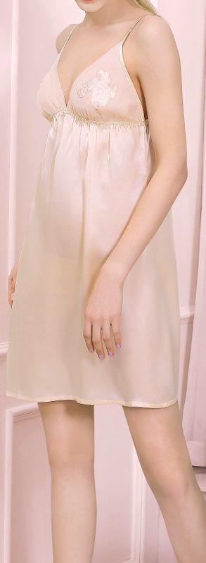 スリップ シルク100% (ベージュ)【刺繍】【楽ギフ_包装選択】あす楽対応【RCP】