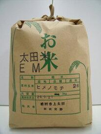 岩手 太田米 もち米【ヒメノモチ 3kg】30年産 EMと有機肥料を使ったこだわりのお米