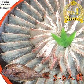 [楽天1位] マダイ刺身&しゃぶしゃぶセット (5〜6人前) 【真鯛 鯛 タイ 高級魚 鯛しゃぶ 海鮮鍋 鯛めし 新鮮 海鮮 グルメ おいしい おすすめ 人気 ギフト 贈答 お中元 正月 御歳暮 お歳暮 御祝 内祝 送料無料 養殖 買いまわり 】