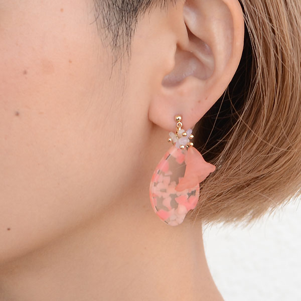 cilsoie シルソワ 花びらピアス ピンク
