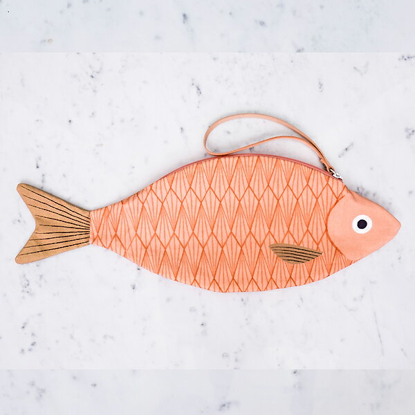 Donfisher ドンフィッシャー 魚クラッチバッグ King Salmon 雑貨 魚雑貨 Bag バッグ 大人カバン 鞄 魚柄 子供 ユニセックス インポート子供服 レディース