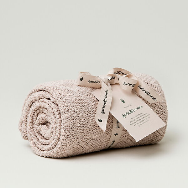 garbo&friends ガルボアンドフレンズ Ollie Pink Blanket コットンブランケット タオルケット あったか 暖かい ベビー雑貨 赤ちゃん MILK お祝い ギフト ベビー キッズ 子供服