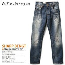 ■Nudie Jeans牛羚D牛仔褲人■損傷加工錐形牛仔褲牛仔褲[SHARP BENGT夏普本TOUCH ON BLUES][W27~32][L32][媒介靛藍]ndj-m-p-83-084《廠商希望..