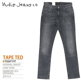 ■Nudie Jeans ヌーディージーンズ メンズ■スキニー タイトフィット ジーンズ デニム パンツ【TAPE TED テープテッド BLACK&BLUE LOVE】【W26〜32】【L32】【グレー】ndj-m-p-83-200 《メーカー希望小売価格25,920円》