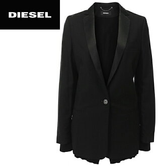 ★DIESEL diesel Lady's ★ faint gleam swamp single Brest 1 button cuffs hem knit rib tailored jacket die-l-o-98-050 << maker hope retail price 57,200 yen >>