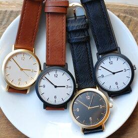 183fc63bc8 腕時計 レディース つや消し マット シンプル ウォッチ メンズ ユニセックス かわいい 大人 カジュアル ブラック ゴールド プレゼント 1