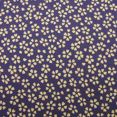 和柄生地 シンプル小桜 紫 和調 和柄 布