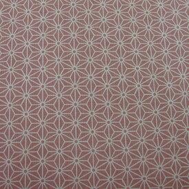 和柄生地 シンプル麻の葉柄 ピンク 和調 和柄 布