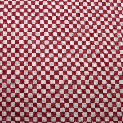 和柄生地 シンプル市松 赤 和調 和柄 布