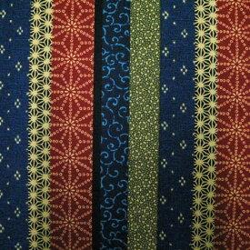 生地 和柄 縦縞柄 マルチ 【生地 和柄 布】
