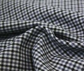 ウール50%ポリエステル50%先染めガンクラブチェック ツイル(綾織り)生地 薄グレー地にグレー&黒のチェック 生地幅150cm 防縮加工 布 布地 服地 通販 チェック チェック柄 ウール ウール生地 w巾150cm