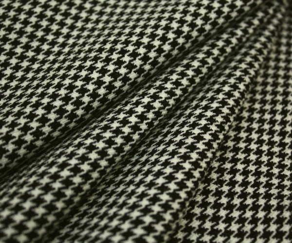 再入荷!日本製ウール100%紡毛ツイード調・キュートな先染め白黒千鳥格子♪ジャケット コート ポンチョに♪W巾150cm 防縮加工 10cm単位 布 生地 布地 服地 通販 ウール チェック ウール生地 チェック柄 千鳥柄 千鳥