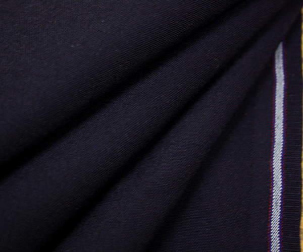 日本製上質平織りウール/ポリエステル混ダークネイビー無地♪w巾150cm 防縮加工 布 生地 布地 服地 通販 ウール生地 50cm以上10cm単位 毛 サマーウール