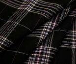 日本製上質ウール/ポリエステル混先染めツイル(綾織り)タータンチェック生地♪W巾150cm防縮加工布布地服地通販チェックウール生地チェック柄スカートパンツに