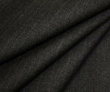 ツイルです。中肉程度の日本製ウール/ポリエステル混先染めチャコール地にピンクのストライプ(縦縞)綾織り生地♪目が詰まって適度なハリとシャリ感あり。防縮加工W巾150cm布布地服地通販ウール生地