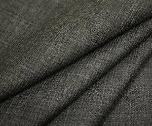 日本製上質ウールポリエステル混ピッケ調ミニツイル(綾織り)杢グレー無地w巾150cm防縮加工の布生地布地服地ウール生地毛サマーウール通販