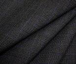 日本製ウール/ポリエステル混平織り先染めグレンチェックサマーウール生地♪スカート、パンツ、ジャケットに♪W巾150cm布生地布地服地通販チェックウール生地チェック柄