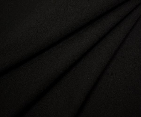 ウール ポリエステル混カシミヤドスキン(織り方のみ ツイル)ブラック 無地 W巾150cm 生地厚約0.65mm。日本製 50cm以上10cm単位カット