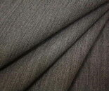 ウール/ポリエステル混バックサテン調ツイル(綾織り)生地杢グレー無地やや薄手