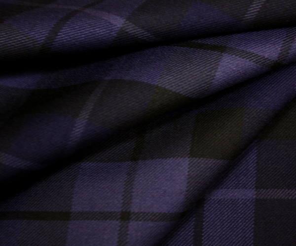 タータンチェック ツイル 生地 ウール ポリエステル混先染め綾織りツイル生地 W巾150cm 布 布地 服地 通販 チェック ウール生地 チェック柄 50cm以上10cm単位カット