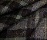 タータンチェック・ツイル生地♪ウール/ポリエステル混先染め綾織りツイル生地布布地服地通販チェックウール生地チェック柄