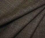 日本製ウール/ポリエステル混先染めグレンチェックツイルスカート、パンツ、ジャケットにW巾150cmの布生地布地服地通販チェックウール生地チェック柄