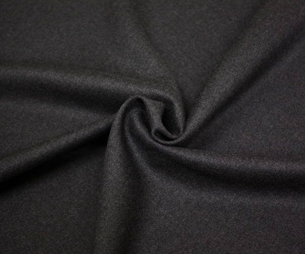 日本製高級ウール100% サキソニー(綾織り)ダーク杢グレー・ミルド(弱起毛)先染め無地♪w巾150cm 布 生地 布地 服地 通販 ウール生地 ウール 50cm以上10cm単位 霜降り 毛 ツイル