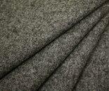 日本製ウール100%紡毛メルトン・杢グレー