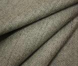 日本製ウール100%上品な先染め淡グレーのヘリンボーン(杉綾織り)生地