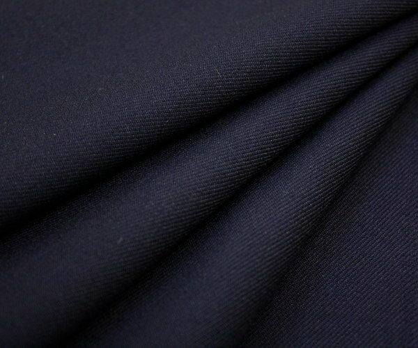再入荷!日本製高級ウール100% サージ・ダークネイビー 無地・綾織り(ツイル)♪w巾150cm 防縮加工 布 生地 布地 服地 通販 ウール生地 50cm以上10cm単位カット