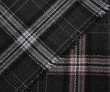 日本製ウール/ポリエステル混タータンチェックツイル(綾織り)生地。W巾150cm布生地布地服地通販ウール生地