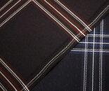 日本製ウール/ポリエステル混タータンチェックツイル(綾織り)生地ドビー織り柄入り。W巾150cm布生地布地服地通販ウール生地