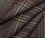 グレーxエンジ・クリーム色ラインタータンチェックウール/ポリエステル混ツイル生地W巾150cm布布地服地通販チェックウール生地チェック柄