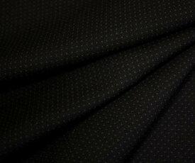 ウール ポリエステル ドビー平織りブラック 黒 中肉〜やや厚程度の生地 W巾150cm 防縮加工 布 布地 服地 通販 ウール生地 日本製 50cm以上10cm単位カット